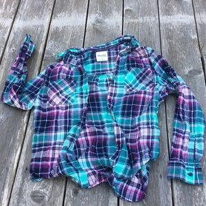 Mudd plaid button down flannel girls 10